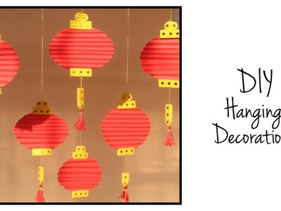 DIY Hanging Decorations | Paper Decoration Ideas | Diwali DIY | Christmas Crafts