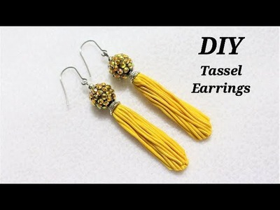 DIY  How To Make Tassel Earrings With Polymer Clay Noodles    Jewelry Making Tutorial