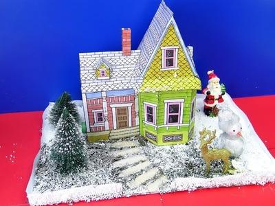 DIY Miniature Christmas House | Christmas decor