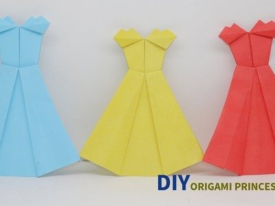 DIY Origami Princess Dress | How To Make Cute Origami Dresses Easily | Crafts Do It