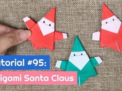 DIY Origami Santa Claus | The Idea King Tutorial #95
