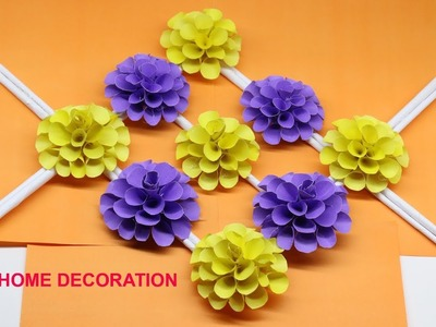 DIY Origami Wall Hanging Home Decoration   Awesome Paper Crafts Flower