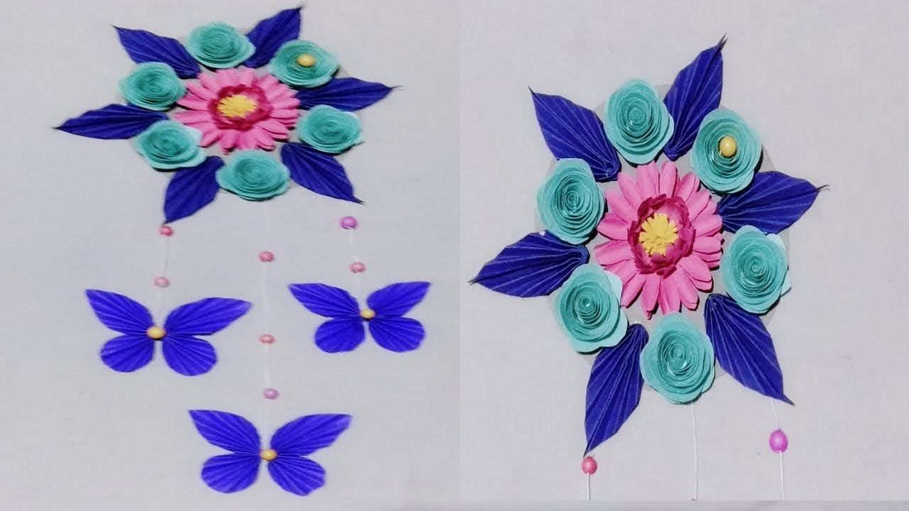 DIY : Paper Butterfly Wall Hanging.diy art and craft ideas.Wall Decoration ideas.Art Gallery