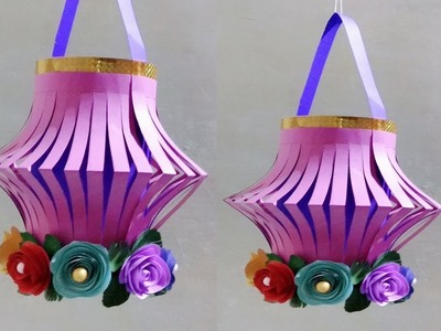 DIY : Paper Craft.Wall Hanging.How to Make Diwali Lantern.Decor Craft ideas.Creative Art