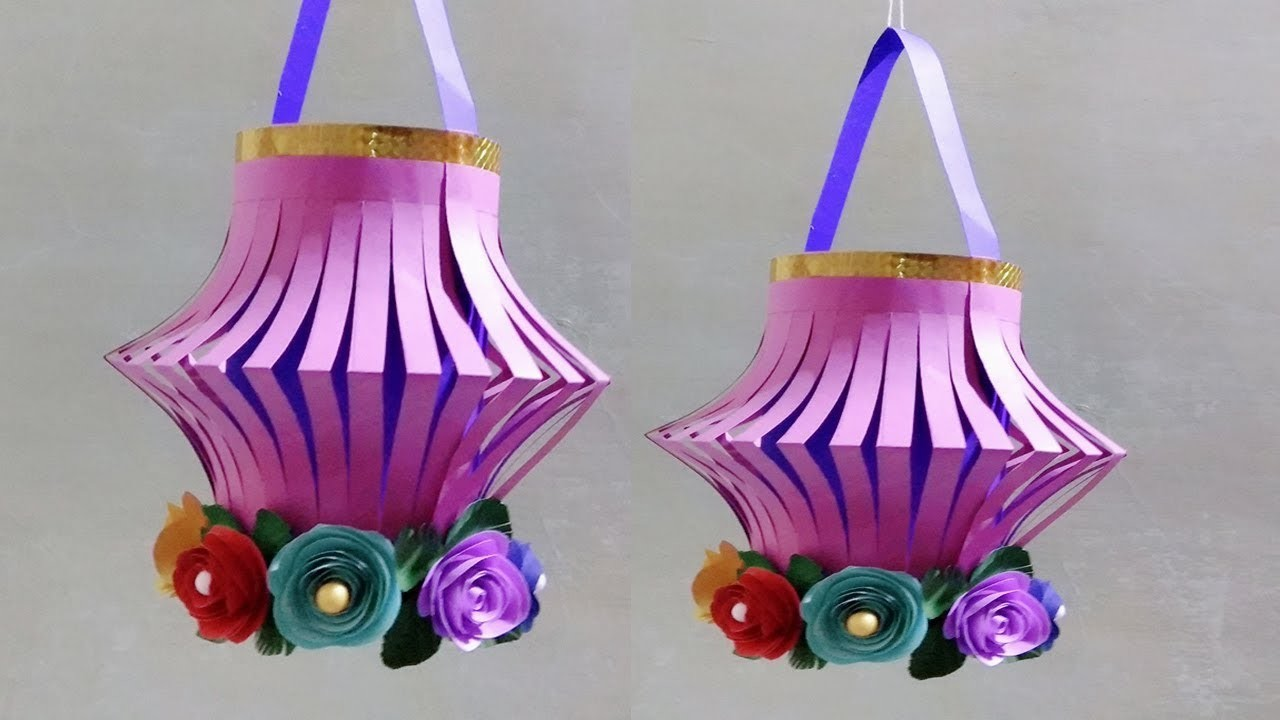 Diy Paper Craft Wall Hanging How To Make Diwali Lantern Decor
