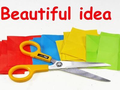 DIY paper crafts   Best craft idea   Cool idea with color paper   DIY arts and crafts