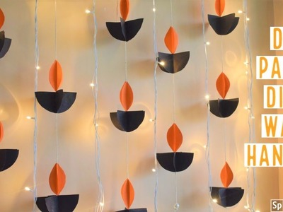 DIY PAPER DIYA WALL HANGING | easy diwali decor ideas | homedecor ideas