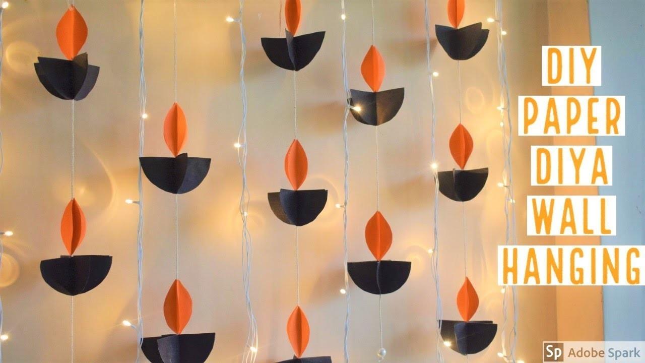 DIY PAPER DIYA WALL HANGING, easy diwali decor ideas ...