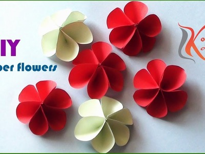 DIY Paper Flowers#Very Easy and Simple Paper Crafts#komali arts