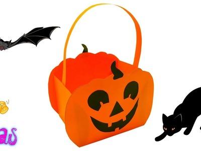 DIY Paper Pumpkin Basket Craft Ideas | Halloween Paper Basket Pumpkin Craft Ideas