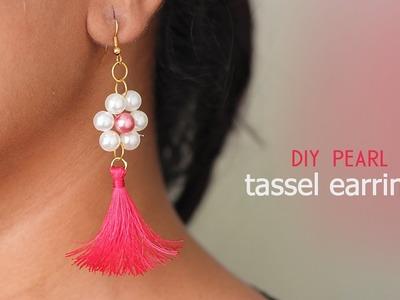 DIY Pearl Tassel Earring   Silk Thread Earrings