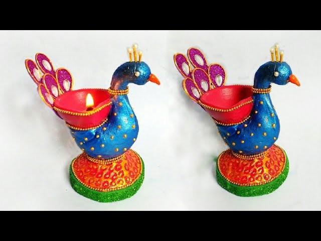 Diya Decoration Ideas | Easy Diya Decoration | Diwali Craft Ideas | DIY | By Punekar Sneha