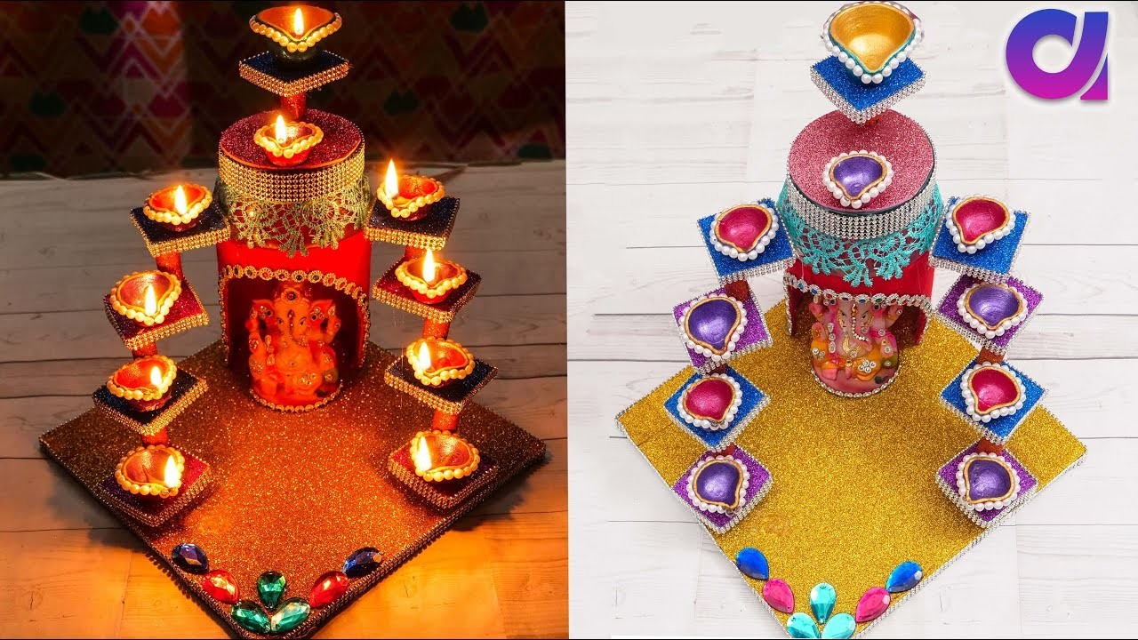 Diya stand from plastic jar.candle stand | Best out of waste | Artkala