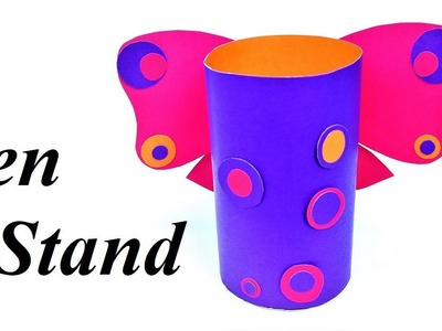 Easy Craft   How to make pen stand   Pen stand   Paper craft