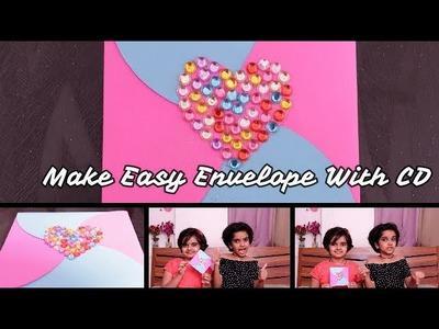 Easy DIY envelope using CD || easy craft ideas for kids || SaanveeKhushee