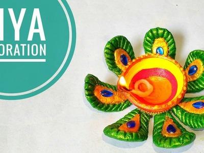 Easy Diya Decoration Ideas | Diwali Craft Ideas at Home | DIY | How To Make | Punekar Sneha