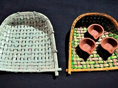Easy Newspaper Soop Making Idea | Best Out Of Waste Newspaper Craft | Diwali Special