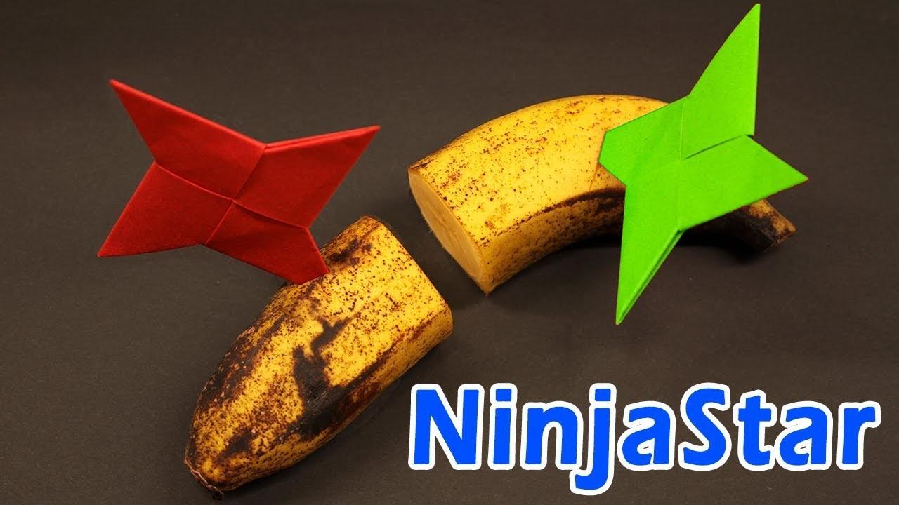 Easy Origami Ninja Star.Sword.Knife -  How to make