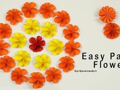 Easy paper flower | how to make paper flower | flower making | diy