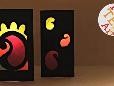 Easy Paper Lantern for Diwali - Easy Kids Diwali Craft