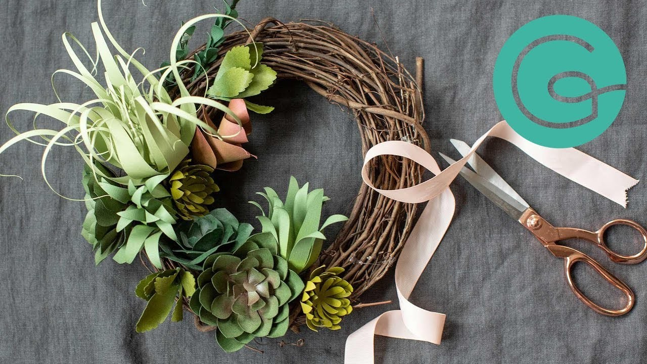 How to Arrange Paper Succulents