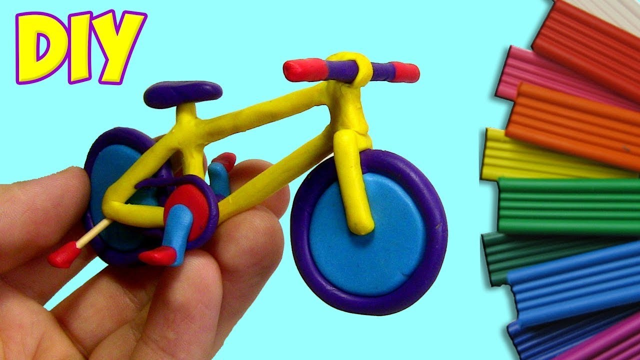 HOW TO MAKE A BICYCLE OUT OF CLAY - TUTORIAL   Play Clay