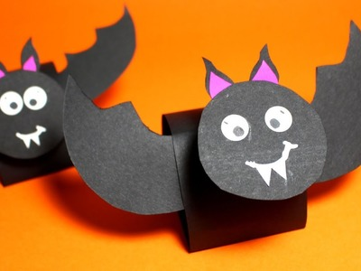 How to Make a Bobble Head Bat | Halloween Craft for Kids