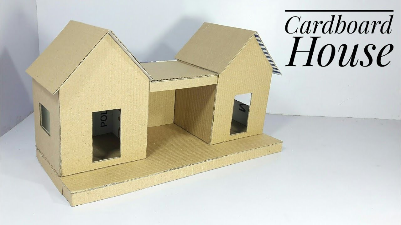 how to make a house out of cardboard-video
