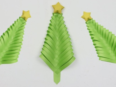 How to Make a Christmas Tree out of Paper DIY ???? Easy Xmas Decor Crafts - Merry Christmas Paper Tree