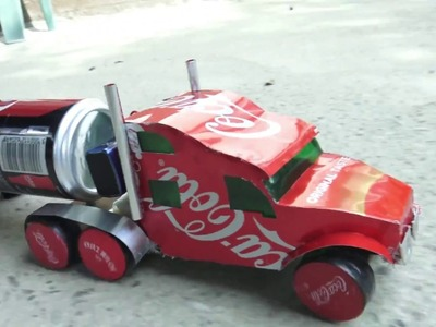 How to Make a Coca-Cola Truck with DC motor - AMAZING COCA-COLA TRUCK