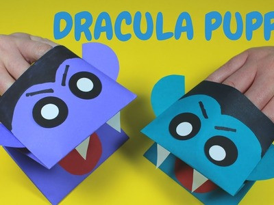 How to Make a Dracula Hand Puppet  | Halloween Crafts for Kids