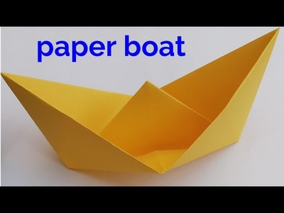 How to make a paper boat,origami paper boat tutorial,school  craft ideas,paper art
