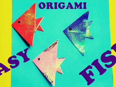 How to make a paper fish | origami fish tutorial | easy paper fish