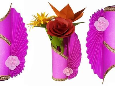 How To Make A Paper Flower Vase - DIY Paper Craft