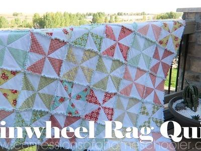 How to Make a Pinwheel Rag Quilt. TUTORIAL