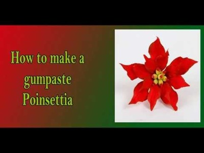 How to make a simple Poinsettia gumpaste flower