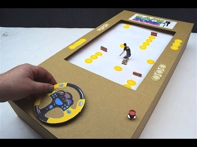 How to make a Skateboard game Collect gold from cardboard Board game