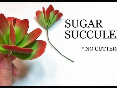 How to Make a Sugar Succulent : Easy NO CUTTERS Gumpaste Tutorial