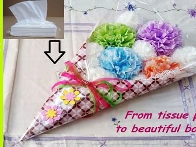 How to make a tissue paper flower bouquet | DIY easy craft