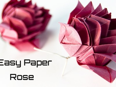 How to Make an Easy Paper Rose | Paper Flowers