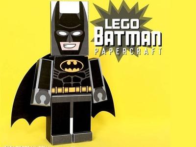 How To Make Batman Lego Papercraft | papercraft 99