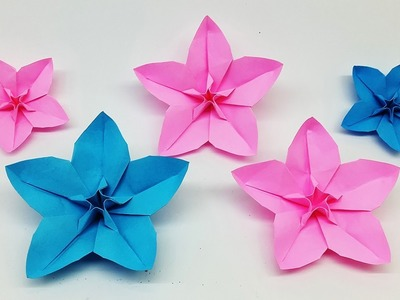 How to Make Easy Origami Flower - Make Paper Flowers - Diy Craft Ideas