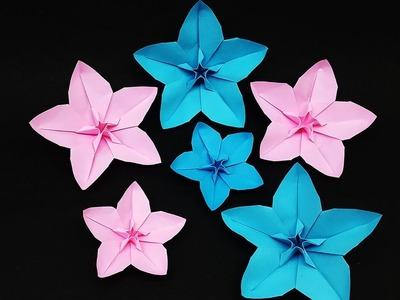 How to Make Flower with Paper - Paper Flowers Making Step by Step - DIY Paper Crafts