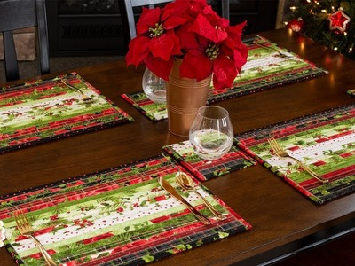 How to Make Jelly Roll Placemats & Coasters   A Shabby Fabrics Sewing Tutorial