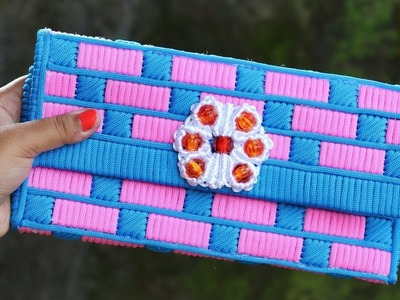 How to make Macrame ladies hand bag Or Purse Using Plastic Canvas | DIY Craft Unique Idea