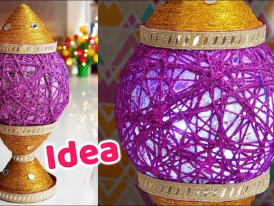 How to make Newspaper lamp | diy | Best out of waste | Artkala
