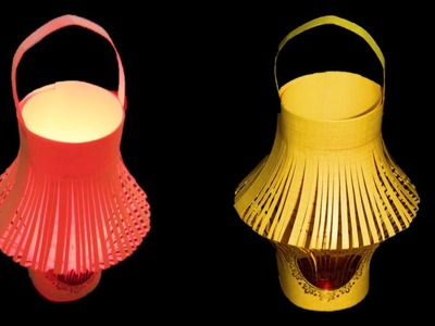 How to make paper cutting night light lamp * Festival decoration lamp showpiece* Craft Care