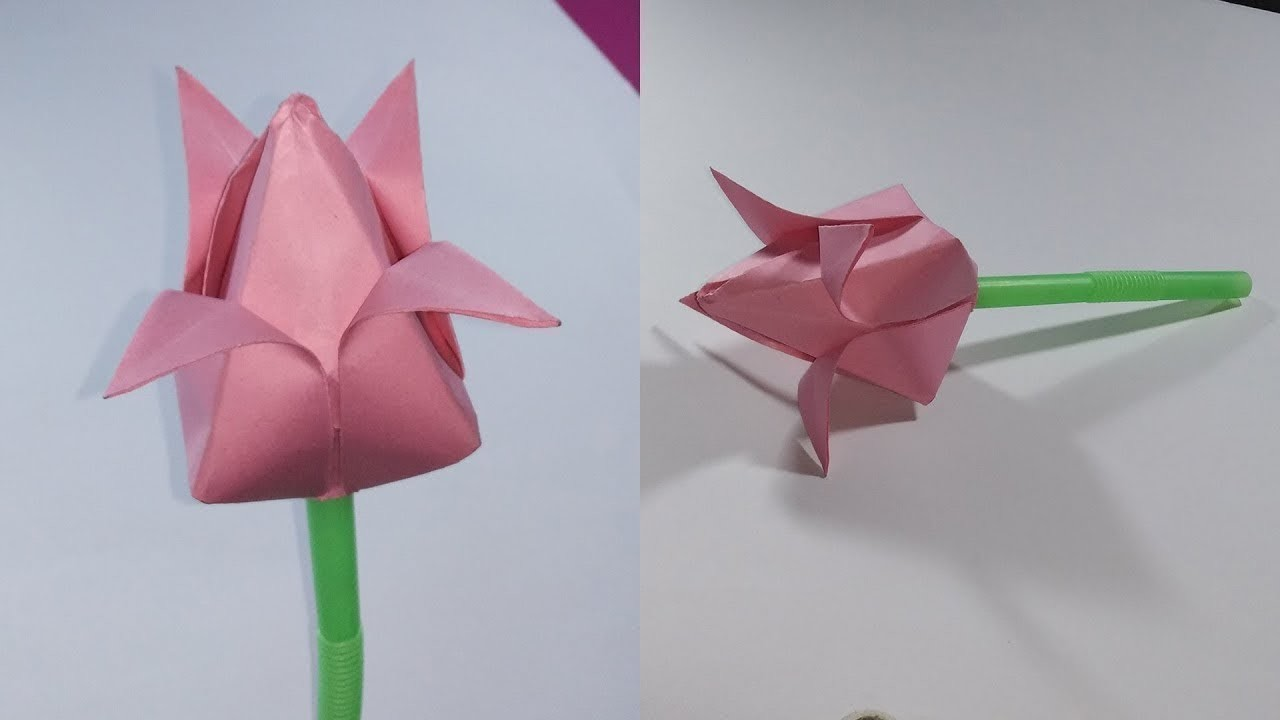How to Make Small Lotus Flower with Paper Making Paper Flowers Step by Step
