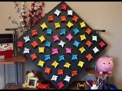How to make spinning pin wheel room deco