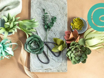 How to Make Succulents with Cardstock Paper